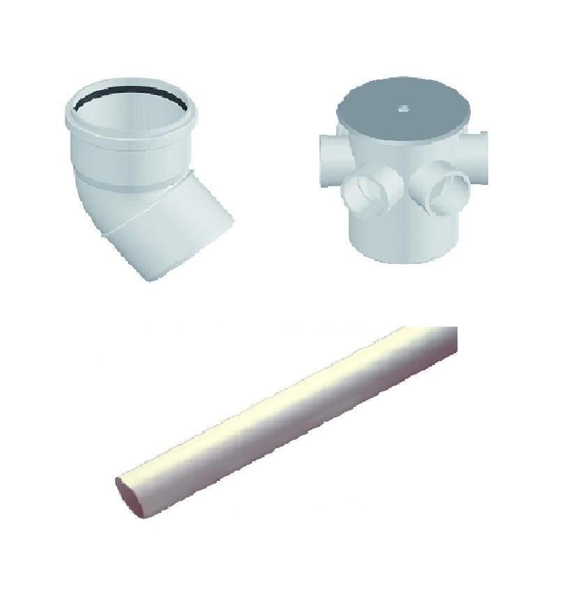 Insonorizado tubería y accesorio