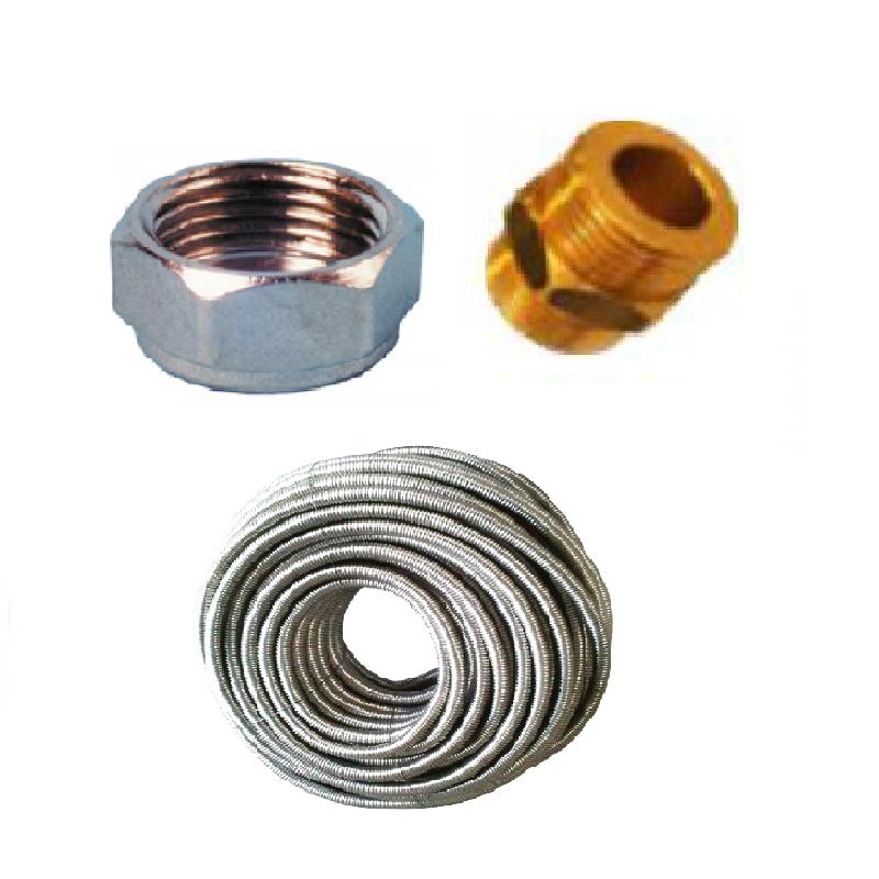 Inox flexible tubería y accesorio