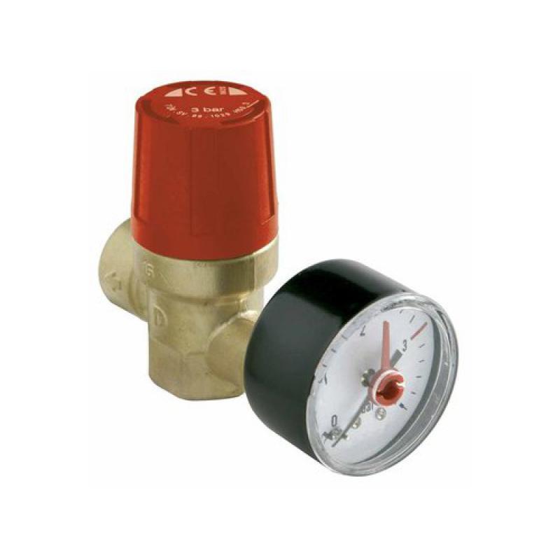 Válvulas de seguridad y manómetros