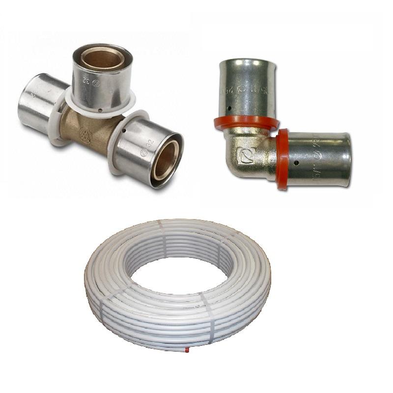 Multicapa prensar tubería y accesorio