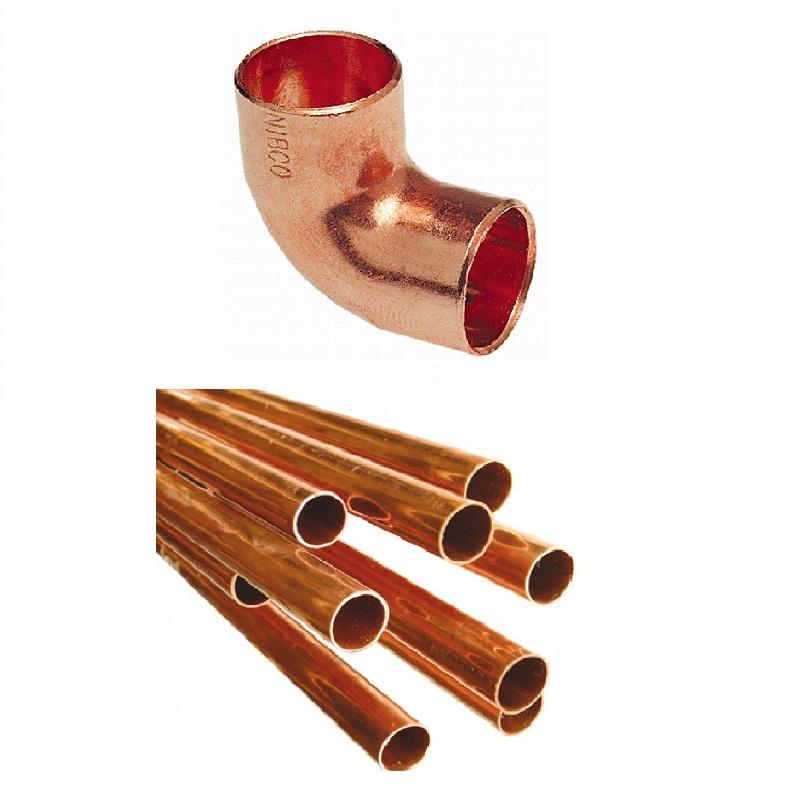 Cobre tubería y accesorio