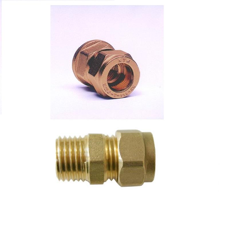 Accesorio cobre compresión