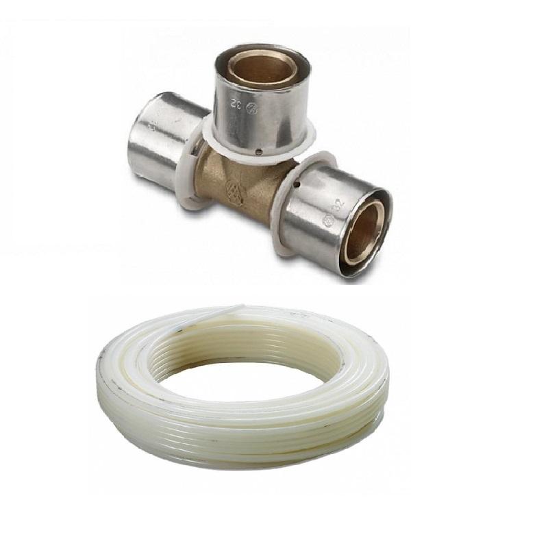 Reticulado prensar tubería y accesorio